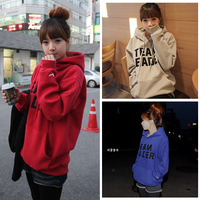 Long-sleeve 2013 thickening sweatshirt women's fleece top autumn and winter women with a hood sweatshirt