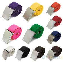 11 colores nuevos colores dulces hombres y mujeres niños unisex correas llanura tela de algodón metálica hebilla de cinturón nzj accessories(China (Mainland))