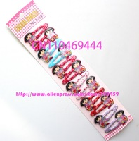 Free Shipping dora Dora Cartoon Hair Clips hairpin Barrette baby Mix Color  60 pairs=120pcs