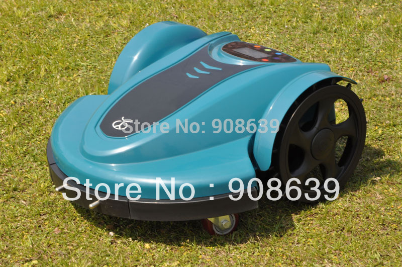 2015 The Newest Lead-acid Battery Electric Lawn Mower Robot With Password,Time Setting,Language and Subarea Setting Function(China (Mainland))