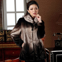 2013 classic fashion mink fur overcoat outerwear