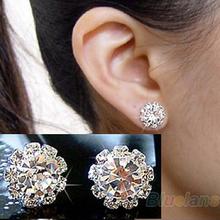 2013 Brand New FASHION spherical Crystal Flower Stud Earrings for Women