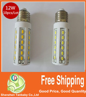10pcs/Lot 12W Corn Led Bulb Light 42leds E27 SMD 5630 Maize Lamp LED Light Bulb Lamp LED Lighting Warm/Warm White Free Shipping