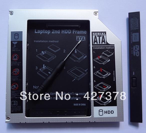 "2.5"" SATA Aluminum 2nd Hard Disk Drive SSD HDD Caddy Adapter bay for Dell OptiPlex 755 760 780 Series Desktop(China (Mainland))"