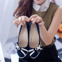 Bow female shoes platform high-heeled single shoes thin heels female work shoes