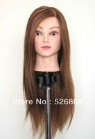 New Arrival Female Mannequin Head With Golden Hair For Hairdressing Training Practice Model Head