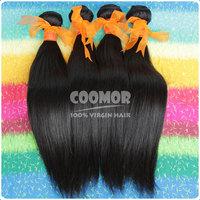 medium luster malay straight hair extensions 100% no processed hair no tangle no shedding free shipping