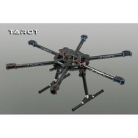 Tarot 3K ALL Carbon metal folding type hexa copter main frame Kit FY680 TL68B01