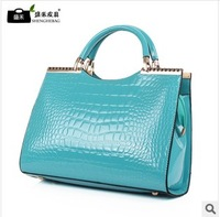 Dorpshipping new 2013 fashion women leather handbags designers brand crocodile pattern tote bag women messenger bags
