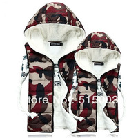 New 2014 fashion hot mens casual vest jacket hoodies jaquetas military/army fleece vest camouflage vest sports free shipping NO1