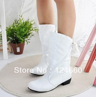 Spring and autumn single low heels women boots red white black dance tassel boots for women