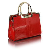 Dorpshipping 2013 New Crocodile Pattern Genuine PU Leather Women Handbags Brand Ladies Totes Bags Popular Handbags