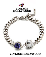 2013 winter new free shipping Vintage hollywood 13fw gentle rhinestone pearl chain bracelet