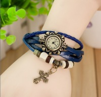 2013 New hot watch for women Beautiful Vintage Bronze watch cross pendant Ladies Watch quartz watch free shipping