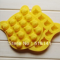 Min order $15 (mix order) Silicone mold cute cartoon 16pcs bear moulds Ice Cube Chocolate Cookie FDA grade