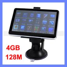 Newest 5 inch Car GPS Navigation with FM Transmiter & Bluetooth 128 RAM 4GB Memory Vehicle GPS Navigator