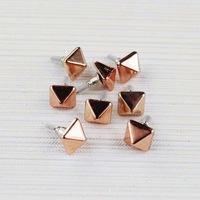 50% off CPAP  Free shipping wholesale   zinc alloy metal square rivet stud earrings