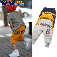 Harem pants trousers capris 2013 summer children's clothing child baby child male female child 4132
