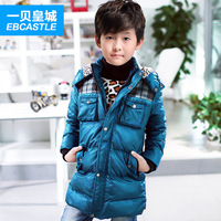 Sallei children's clothing male child medium-long down coat boy child down coat outerwear winter 2013