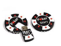hot selling pvc poker usb flash drive