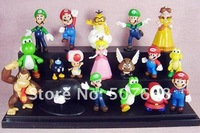 PVC Super Mario Bros Figure yoshi dinosaur Figure cos 18style mixed  free shipping