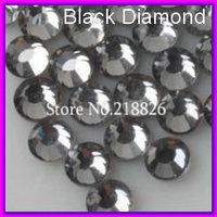 Wholesale DMC Hot fix Flatback Glass Rhinestones crystals Beads ss30 Black diamond 288pcs/bag CPAM free Use for Fashion jewelry