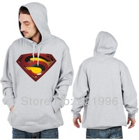 Free Shipping Superman Logo Printed Pullover Hoodie Boys Mens