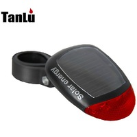 New Arrival 2 LED Solar Power Bicycle Tail Light Mountain Bike Cycling Rear Light  No Battery Sunshine energy LED Lamp