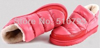 hot sell women lady winter warm shoes down Feather shoes waterproof boots snow shoes boots excellent quality