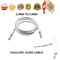 HOT- 5pieces/lot,Long 1m ,Universal JACK 3.5mm Stereo AUXILIARY CABLE CORD CAR AUDIO AUX WIRE Male to Male, Free shipping