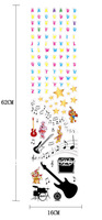 2013 new arrival Kid Wall Stickers Letter guitar stars removal wall sticker for kid room
