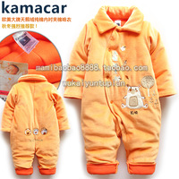 Male female child winter baby romper bodysuit romper cotton romper thermal romper crawling service thickening