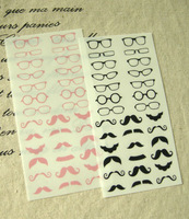Korea stationery cute glasses waterproof diy decoration stickers 96 3 3