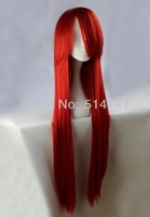 Free Shipping 100cm Long Fairy Tail-Elza-Scarlet Red Cosplay Costume Wig Synthetic Hair BW001