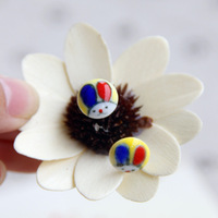 Cute Ceramic Stud Earrings,Jingdezhen Hand Painted New 2014 Fashion Vintage Jewelry Accessories Wholesale