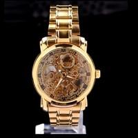 Gold Novle and Elegance stainless strap bracelet men business watches