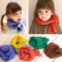 5 colors in stock 2013 new style designer muffler brand knitting kids scarfs baby neck warmer,girls scarf baby items