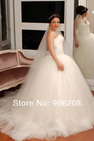 Angel Plus size wedding dress Free shipping!2014 Newest Design ! Fashion three layer high-end Bride Princess Wedding Dress