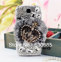 For samsung note2 note3 i9300 i9220 i9500  Rex Rabbit diamond transparent shell crown pattern