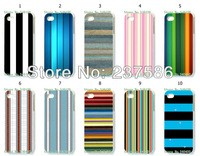2013 Hot  free shipping New 10pcs/lots wholesale  Striped hard white case cover for iphone 4 4S 4G