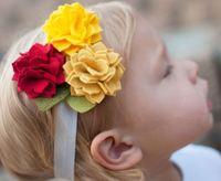Wholesale - -girls hair bow hairbows hairband felt hairbows headbands new style 50pcs/lot