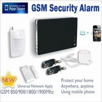 New iOS Apps Supported ~ Smart Wireless Wired Burglar GSM Home Security Alarm System Remote Control by SMS & Calling Modify Zone