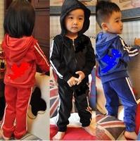2014 free shipping Retail 1 set Top Quality!Boys sports Long Sleeve Hoody jacket+pants 2pcs Suit Children Cotton Clothing Set