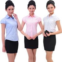 (10pcs-free ship) F-28 work wear summer female front desk short-sleeve work wear sleeveless shirt  Waiter uniforms