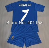 2013 14 #7 ronaldo real madrid youth soccer football jersey kit