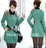 2013 new wool coats, fashion  Long coat, coat winter women, women's winter coat