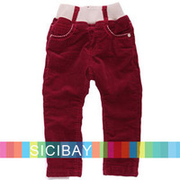 Baby Girl Pants Winter Fashion Elasticized Waist Trousers,Free Shipping K3889