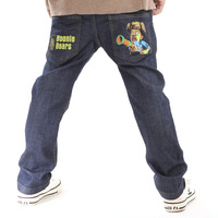 Super dudu clothing long trousers children soft jeans autumn and winter male child cotton-padded pants