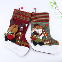 Cute Personalized 3D Christmas Stocking Tree Decorations Sock For Kids Xmas Gift Free shipping&Drop shipping XZY0281