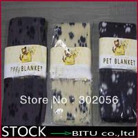 300pcs/lot dog feet printed fleece Pet Blanket Dog Mat  BG1694